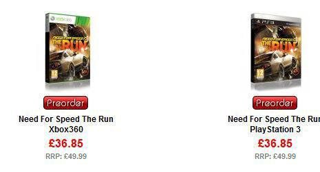 Need for Speed: The Run Available For Preorder