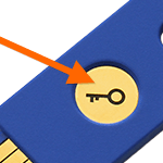 press fido security key button tap png