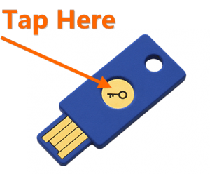 Press Fido Security Key Button Tap 100x100 Png