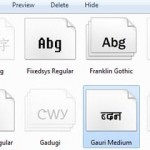 How to add fonts to Windows 8
