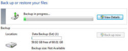 How to automatically backup files to an external drive in Windows 7