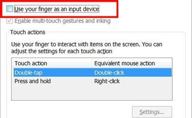 How to disable touch screen on Windows 8