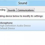 Skype: Enable microphone in Windows 8