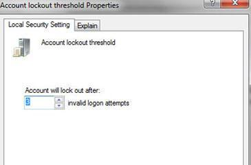 How to lock Windows 7 after 3 failed log in tries