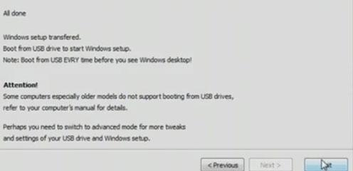 How to make a bootable USB drive in Windows 7