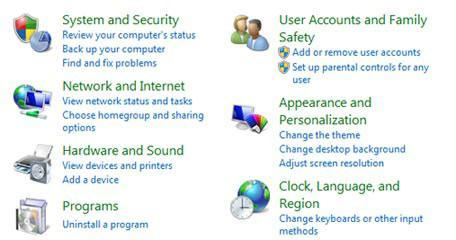 How to open control panel and system restore from task manager