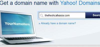 How to register a domain name with Yahoo