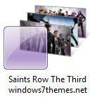 Saints Row The Third Windows 7 Theme With 5 Purple Wallpapers