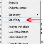 CPU's: How to set processor affinity for any application in Windows 8