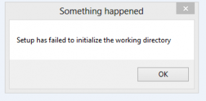 Setup Has Failed To Initiliaze The Working Directory 100x100 Png