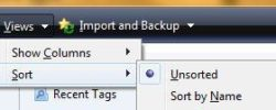 How to alphabetize favorites in Windows 7