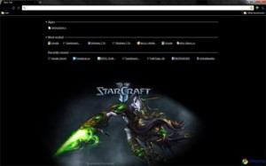 Starcraft 2 Google Chrome Theme (Protoss Hero Zeratul)