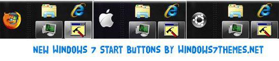 Firefox, Ubuntu & Apple Start Button for Windows 7