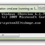 How to start task manager from command line