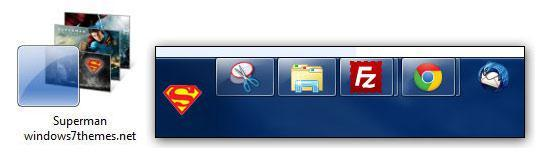 Windows 7 Superman Theme With Start Orb (2014)