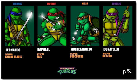 Teenage Mutant Ninja Turtles Theme With 10 Backgrounds