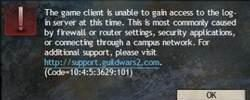 Fix Guild Wars 2 Errors: The Game Client Is Unable To Gain Access To The Login Server