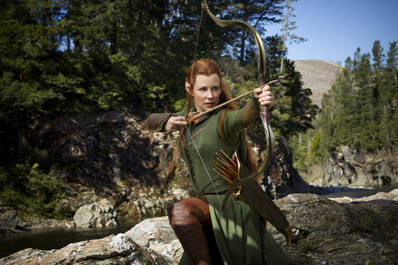 The Hobbit 2: Desolation Of Smaug Pictures Of Evangeline Lilly, Orlando Bloom