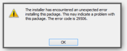 Fix MSI Error 29506: The installer encountered an unexpected error when trying to install an MSI