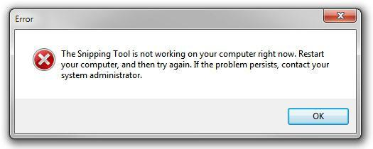 Fix: The snipping tool is not working on your computer right now