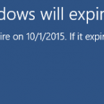 this build of windows will expire soon png