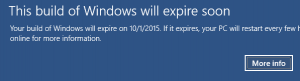 This Build Of Windows Will Expire Soon 100x100 Png