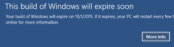 Windows 10 Expiration: This Build Will Expire Soon – Upgrade Technical Preview Version