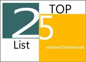 25 Top Lists On Windows7Themes.net