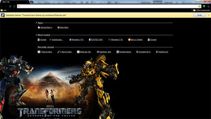 Google Chrome Transformers Theme