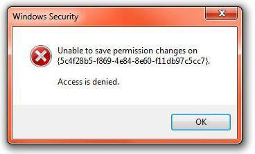 Unable to save permission changes: access is denied