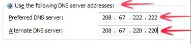 Use OpenDNS or GoogleDNS to speed up your internet connection in Windows 8