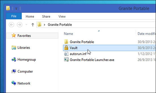 Protect your USB's data using Granite Portable