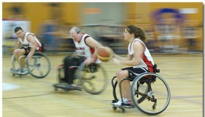 Wheelchair Basketball Theme With 10 Backgrounds