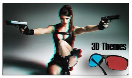 Real 3D Themes for Windows 7 (Anaglyph)