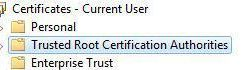 Where to find certificates in Windows 7 and how to install them?