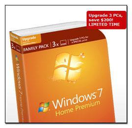 Windows 7 Family Pack: Price Slash 3x for $149 (Limited!)