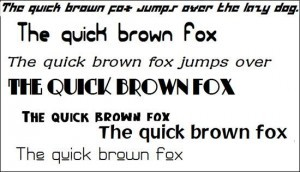 1000 Fonts for Windows 7 Part II