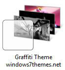 Free Windows 7 3D Graffiti Theme