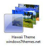 windows 7 hawaii theme with beaches jpg