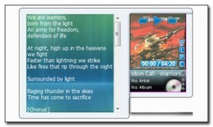 Windows 7 Lyrics Gadget