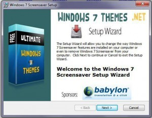 Windows 7 Screensaver Installer