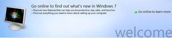 Q: Where is the Welcome Screen Center in Windows 7?
