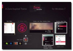 Free Dark/White Windows 7 Zune Themes