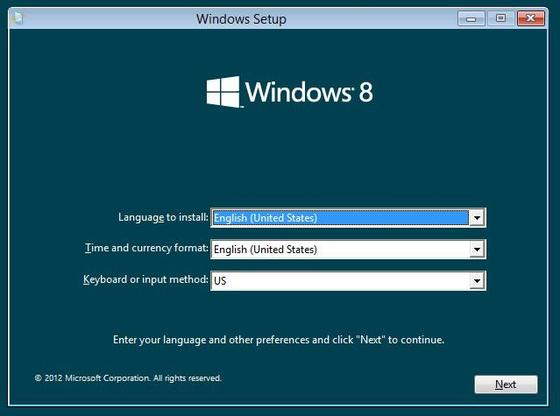Solution: We couldn't install Windows 8 Consumer Preview