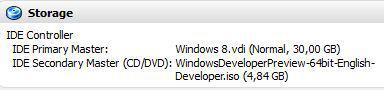 Question: What is the recommended Windows 8 disk space?