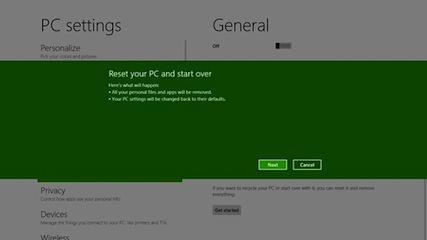Microsoft: Refresh And Reset Options Will Make Windows 8 System Recovery Easier