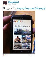 Google+ On Windows Phone 7?