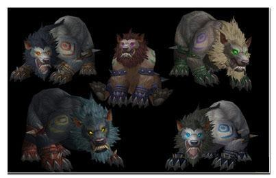 WoW Cataclysm: Troll/Worgen Druid Bear and Cat Forms