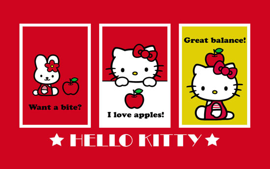 The Windows 7 Hello Kitty theme has some very cute icons for